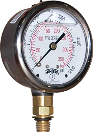 winters pfq series dual scale liquid filled pressure gauge. Black Bedroom Furniture Sets. Home Design Ideas