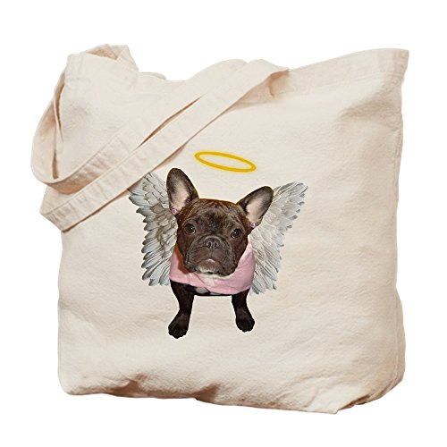 Angel Tote Frenchie CafePress Shopping Canvas Bag Bag Natural Cloth Bwdwxqna