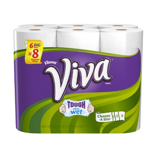 Viva Paper Towels, Choose-a-Size, White, Big Roll, 6 rolls (Pack of 4)