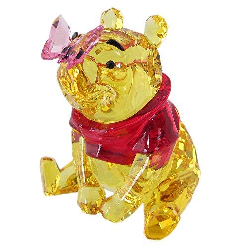SWAROVSKI Winnie The Pooh with Butterfly, Crystal, Multicoloured, 6.5 x 5.6 x 5.5 cm