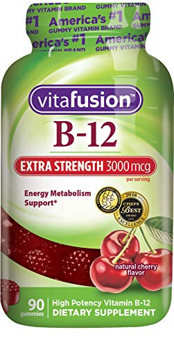 Vitafusion Extra Strength B12 Gummies, 90 Count (Packaging May ()