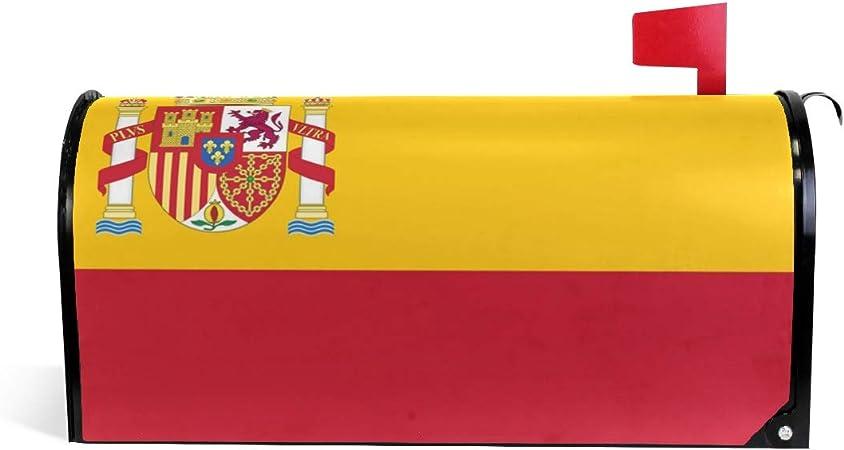 HEOEH - Buzón magnético con Bandera de España para decoración de jardín, tamaño Grande, 63,5 x 50,8 cm: Amazon.es: Hogar