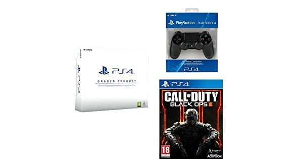 PlayStation 4 (PS4) 500 GB Consola - Blanca - Reacondicionada por Sony - Chasis B + Mando Dualshock 4 Nuevo adicional + Call Of Duty: Black Ops III: Amazon.es: Videojuegos