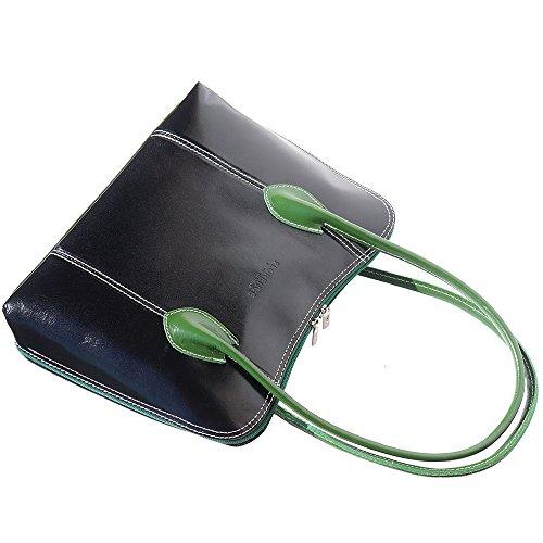 Florence Leather Market - 216 mujer Negro - negro/verde