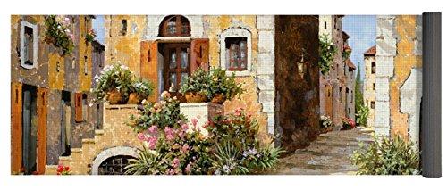 Pixels Yoga Mat w/ Bag ''Entrata Al Borgo'' by Pixels