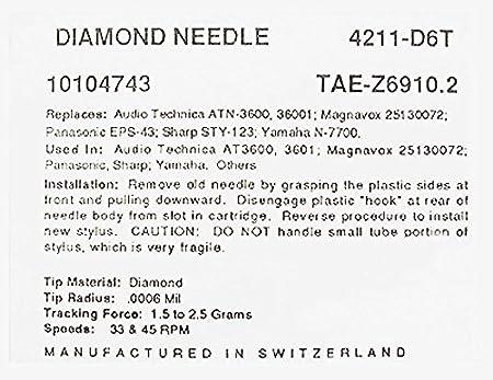 STEREO TURNTABLE STYLUS NEEDLE for AIWA PX-E800 PX-E850 AIWA ...