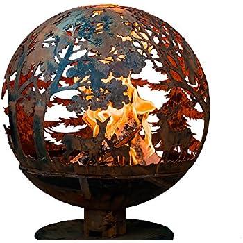 Esschert Design FF1012 Laser Cut Wildlife Fire Pit Globe, Extra Large, Wildlife Extra large
