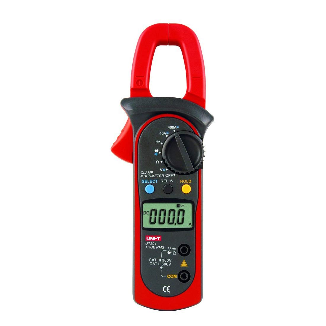 Uni-T UT204 Auto-Ranging AC DC Ture RMS Auto/Manual Range Digital Handheld Clamp Meter Multimeter Test Tool Sinometer