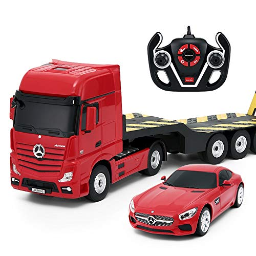 Luccky 2 Pack Remote Control Car Truck Sport Car Buggy RC Car 2.4Ghz 4WD High Speed All Direction Drive with 4 Channel Remote Control 1:24 Monster Truck Vehicle Toy for 3 Years Old Up Kid Best Gift