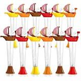 Barco tazas Kids Party 12-Pack–para Bebidas Frías o Frozen, Kids partes–primera es una taza, entonces es de un juguete–9oz (250ml)–Conjunto de 11m tazas en variados colores y diseños Sail