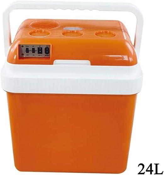 wangt Refrigerador Eléctrico De Camping,12V / 240V 24L Caja Fría Caliente/Frio Portátil Refrigerador del Coche-para Camping Caravanas Picnics Festivales,Orange: Amazon.es: Hogar