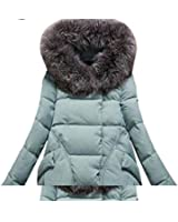 Baby-QQ Nice 1PC Winter Jacket Women Fur Hood Cotton Padded Coat Parkas For Women