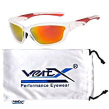 Men's Polarized Sport Sunglasses, High Performance Sleek Design, Non Slip Nose Pads, Provides Excellent Coverage, Free Cleaning Pouch
