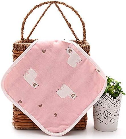 Bufanda cuadrada seis capas de gasa pañuelo de algodón jardín de infantes lado de los niños cuadrado pequeño paño de mesa para niños pañuelo del bebé: Amazon.es: Bebé