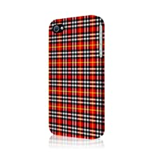 Empire Signature Series Slim-Fit Case for iPhone 4/4S - Retail Packaging - Red Plaid