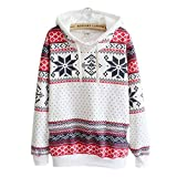 lady bug grinder - Hengshikeji Womens Casual Long Sleeve Shirts Snow Sweater Hoodie Sweatshirts Crop Top Blouses Sport Jumpers Tunic Pullover (Mom-L, White)