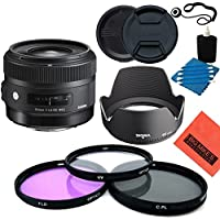 Sigma 30mm f/1.4 DC HSM Art Lens for Nikon DSLR Cameras - Starter Kit
