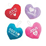 Bargain World Plush Hearts with Faith Message (With Sticky Notes)