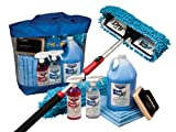 Waterless RV Aircraft Boat Wash Wax Mop Kit, No Ladder Needed, Wash, Wax, Dry, Anywhere, Anytime, No Restrictions