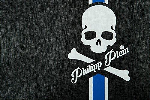 Philipp Plein borsa uomo a mano in pelle originale kingstone blu