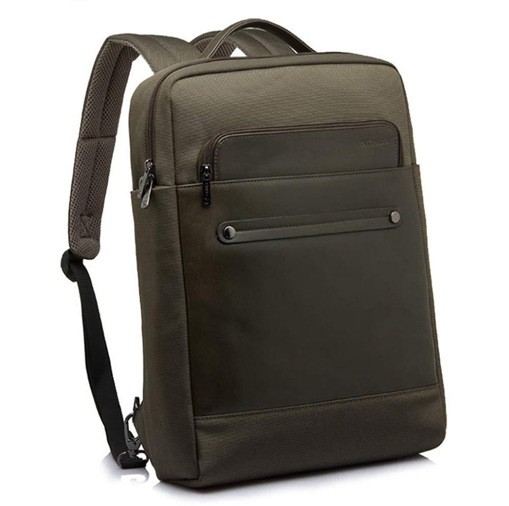 革のメンズバックパックトレンドビジネスコンピュータバッグレジャー旅行バッグの最初の層のバックパック韓国語版 large green B07LD5B1RW