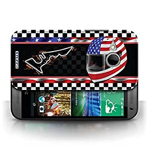 KOBALT? Protective Hard Back Phone Case / Cover for HTC One/1 Mini 2 | USA/Austin Design | F1 Track Flag Collection by lolosakes