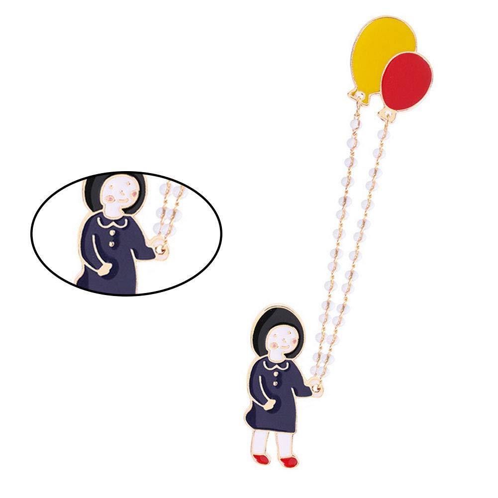 Hieefi 1PC Creativo del Dibujo Animado Lindo de la Cuerda de Salto peque/ño Broche broches y pasadores para ni/ños Ropa de Las Mujeres de Navidad Accesorios C1418-2