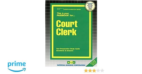 court clerk passbooks career examination series jack rudman rh amazon com Exam Study Guide Brady Michael Morton SHRM Exam Study Guide