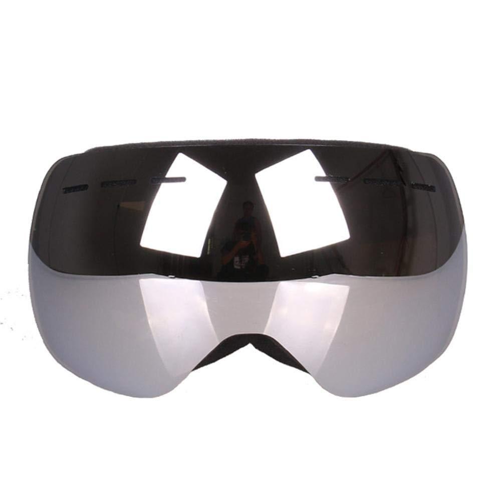 Y-YT Gafas de DeporteEsquí Gafas Doble Capa Anti-empaños Cara Grande Ojo protección ceguera de la Nieve al Viento Puede es Tarjeta miopía Espejo