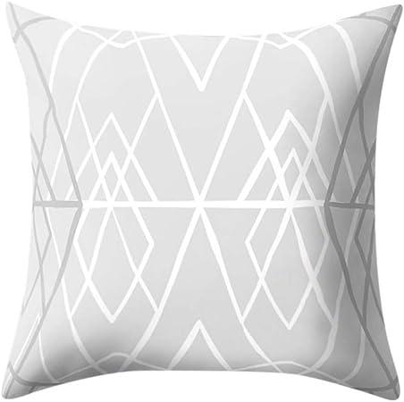 Zimuuy Les oreillers,Housse de Coussin taie d'oreiller Motif géométrique irrégulière 45X45cm(Taille Unique,C)
