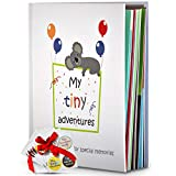 Baby Memory Book – First 5 Years Photo Album, Journal & Scrapbook + 28 FREE Monthly & Milestone Stickers. Modern Baby Shower Gift for Girl or Boy. 54 Pages + Gift Box & Keepsake Envelope by Tiny Gifts