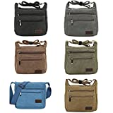 Fabuxry® Casual Canvas Zipper Single Adjustable Strap Shoulder Bags Messenger Crossbody Handbags