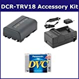 Sony DCR-TRV18 Camcorder Accessory Kit includes: SDM-101 Charger, DVTAPE Tape/ Media, SDNPFM50 Battery