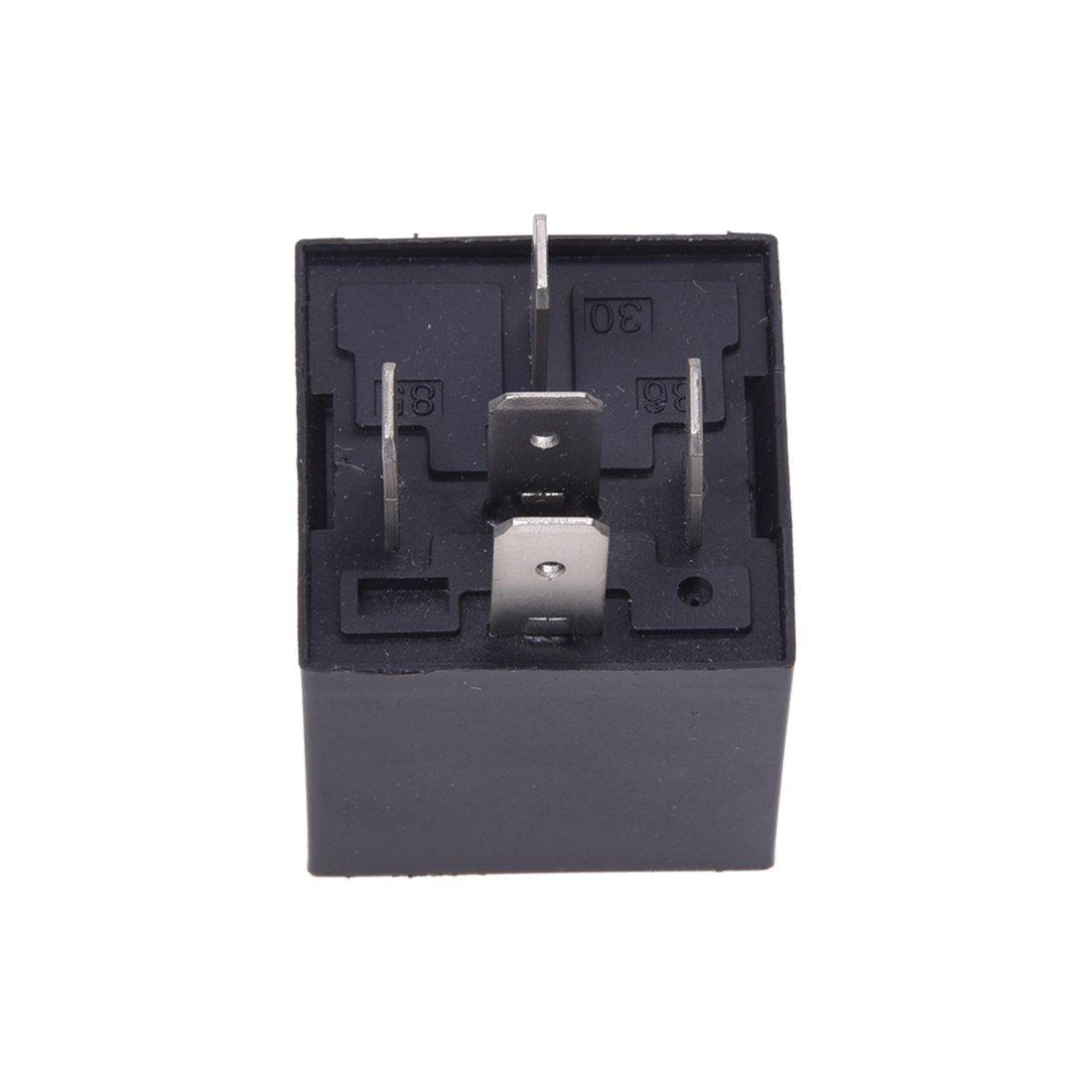 Gaoominy Rele de Repetidor 12V 30A 5 Pines 40A para Coche Automatico