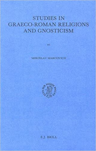 Book Studies in Graeco-Roman Religions and Gnosticism (Studies in Greek and Roman Religion, Vol 4)