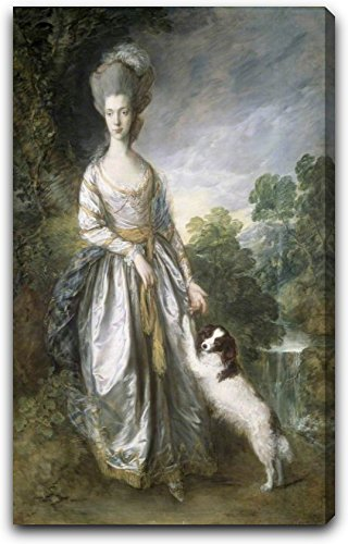lady-brisco-by-thomas-gainsborough-15-x-22-extra-thick-25-gallery-wrapped-canvas-art-print-ready-to-