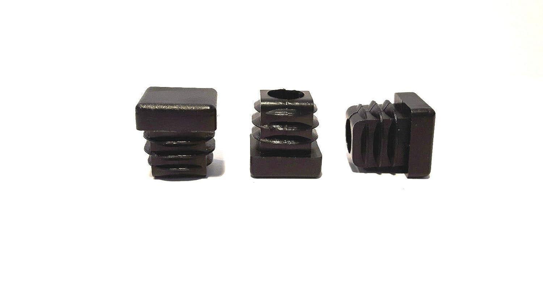 Xiton 100 mm x 100 mm pl/ástico Cuadrado Tubo Insertos esconder Tapones Negro 4pcs