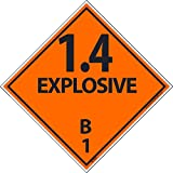 DL44ALV National Marker Dot Shipping Label, 1.4 Explosive B, 1, 4 Inches x 4 Inches, Ps Vinyl, 500/Roll