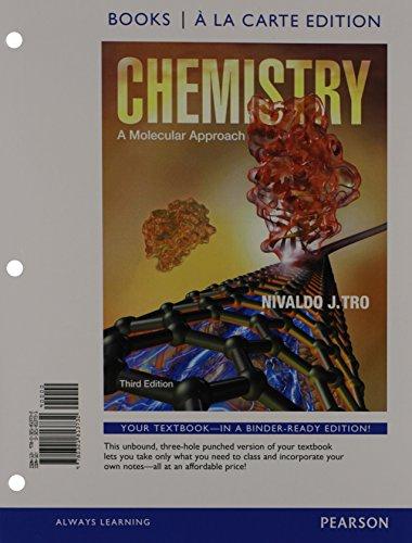 Chemistry: A Molecular Approach, Books a la Carte Edition