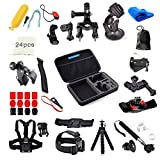 GoPro Accessories - VANDESAIL 60 in 1 Essential Bundle Kits with Shockproof Carry Case for GoPro 4 3+ 3 2 1 Black Silver Camcorder