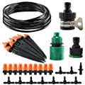 "Garden Irrigation System, Anpatio 32 Feet 1/4"" Automatic Drip and Micro Sprinkler Kit Patio Yard Plant Vegetabel Berry Landscape DIY Watering Supplies"