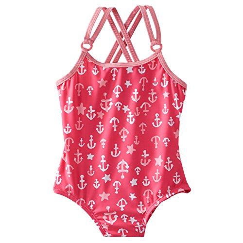 Oshkosh B' Gosh Girls' One Piece Swimsuit (2T, Pink Anchor)