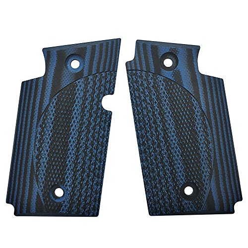 Black Diamond Cut Grip (Sig Sauer P938 G10 Grips, Checker Diamond Cut, Blue/Black, Cool Hand Brand)