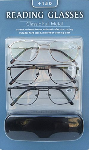Reading Glasses Classic Full Metal - Eyewear Icon