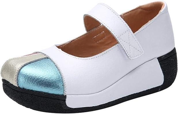 OHQ Zapatillas De Gimnasia Mujer Casual Flock Ponerse Plataforma Gruesa Zapatillas Deportivas Cu/ñAs Zapatos C/óModo Y Elegante