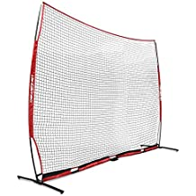 PowerNet XL Portable Barrier Net 21.5 ft x 11.5 ft for Baseball and Lacrosse | 247 SQFT of Protection | Safety Backstop w/Bow Frame | Portable EZ Setup | Train Anywhere | Durable Base/Poles/Netting