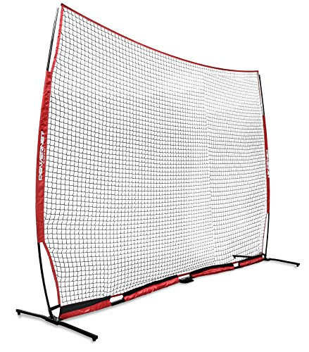 - PowerNet XL Portable Barrier Net 21.5 ft x 11.5 ft for Baseball and Lacrosse | 247 SQFT of Protection | Safety Backstop w/Bow Frame | Portable EZ Setup | Train Anywhere | Durable Base/Poles/Netting