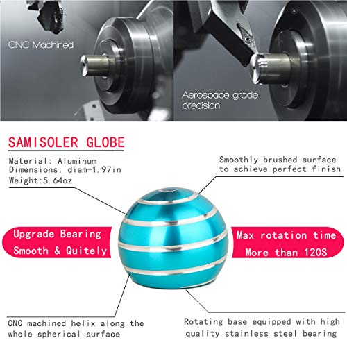 samisoler Kinetic Desk Toy with Full Body Optical Illusion Metal Ball