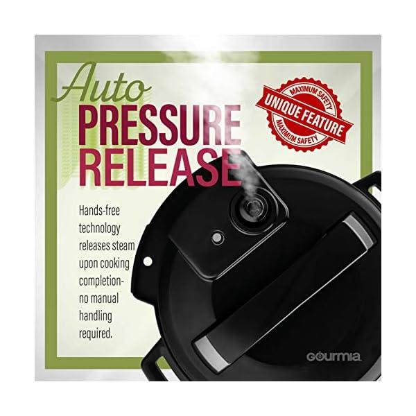 Gourmia GPC965 Digital Multi-Functional Pressure Cooker - Automatic Pressure Release - Adjustable Pressure Control - 13… 6