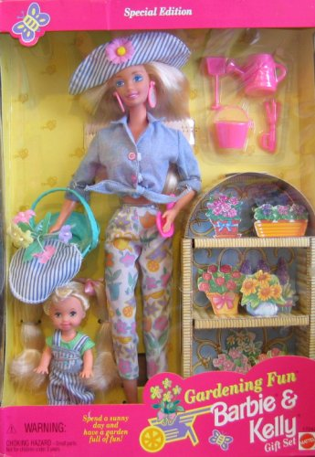 Gardening Fun BARBIE & KELLY Gift Set - Special Edition Set w 2 Dolls & Accessories (1996)